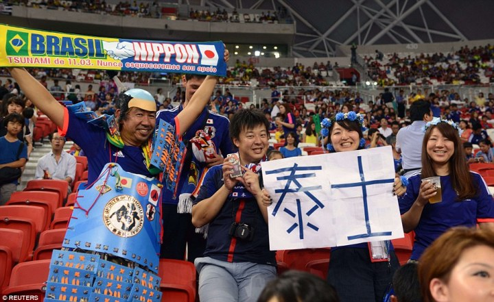 The Japanese will be looking to paint Kallang blue. (cr: dailymail)