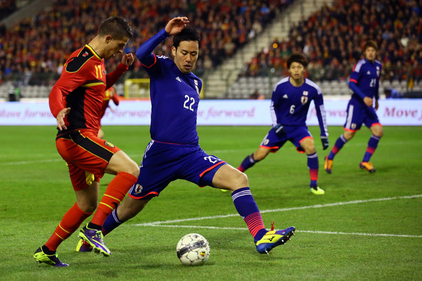 Apart from his solid defensive performances, Yoshida (blue) also scored a goal in qualification, against Cambodia (cr: zimbio)